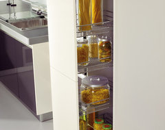 Pull-Out Pantry with Adjustable Metal Baskets modern-kitchen