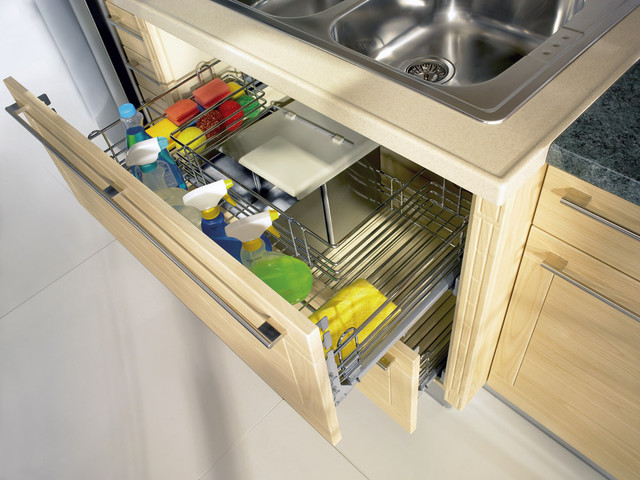 Pull-Out Sink Cupboard - modern - kitchen - toronto - by SVEA KITCHENS