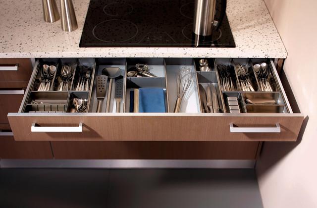 Cutlery ider system modern kitchen toronto by svea kitchens