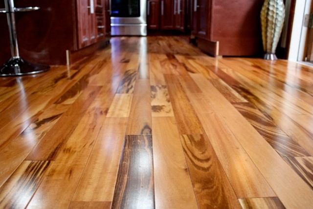 Exotic brazilian tigerwood koa prefinished modern for Hardwood floors questions