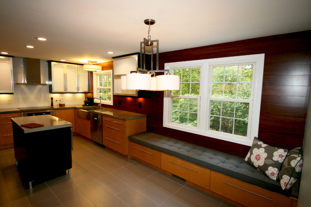 Modern Kitchen Window modern kitchen window seat cushions - contemporary - kitchen