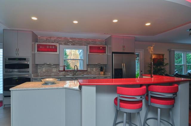 Modern Kitchen with a Pop modern-kitchen