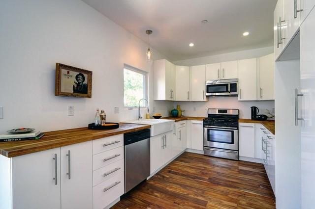 Modern Kitchen with Butcher Block Counters - Modern ...