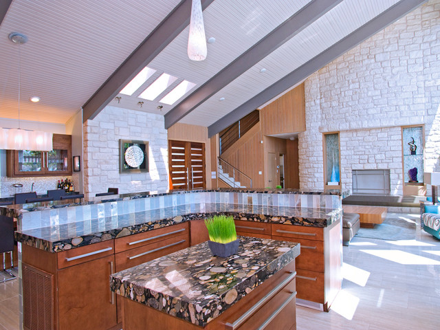 Modern Kitchen with L-Shaped Island contemporary-kitchen