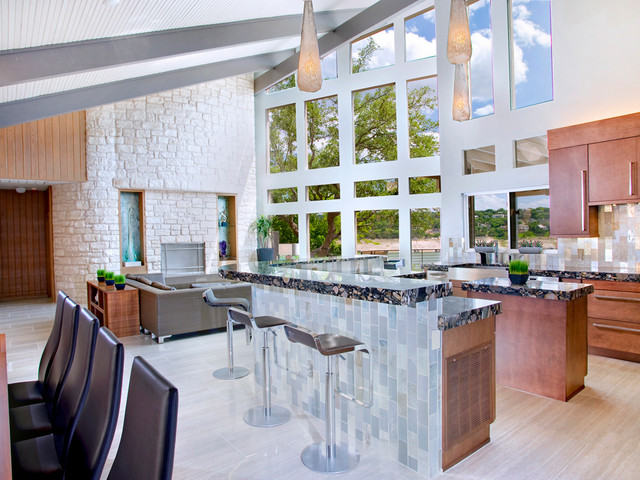 Modern Kitchen With L-Shaped Island