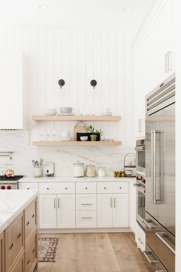 75 Beautiful Farmhouse Kitchen With Marble Backsplash Pictures Ideas December 2020 Houzz
