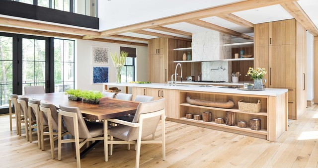 Modern lake house rustic kitchen by workshop apd for Rustic lake house kitchens