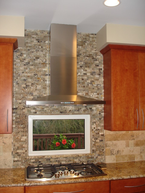 modern large format backsplash contemporary kitchen