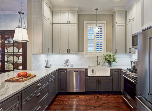 Small Farmhouse Open Concept Kitchen Designs Example Of A Small Country U  Shaped Dark Our 50 Best U Shaped Kitchen Ideas Remodeling Pictures Houzz.