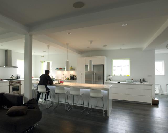 Modern Live / Work Loft industrial-kitchen