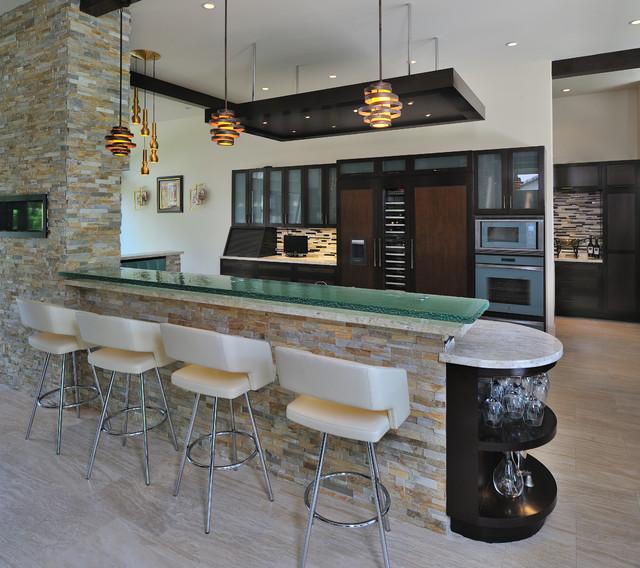 Kitchen Partition New Modern Living  Contemporary  Kitchen  Houston Hann Builders