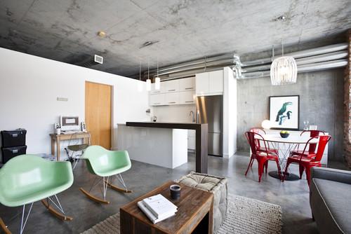 Modern Loft eclectic kitchen