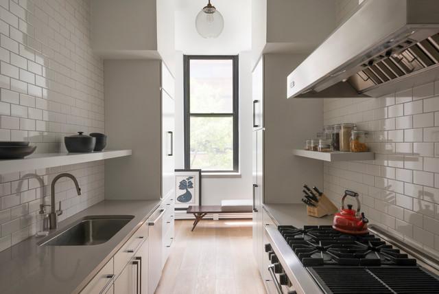 New York City Apartment Scandinavian Kitchen New