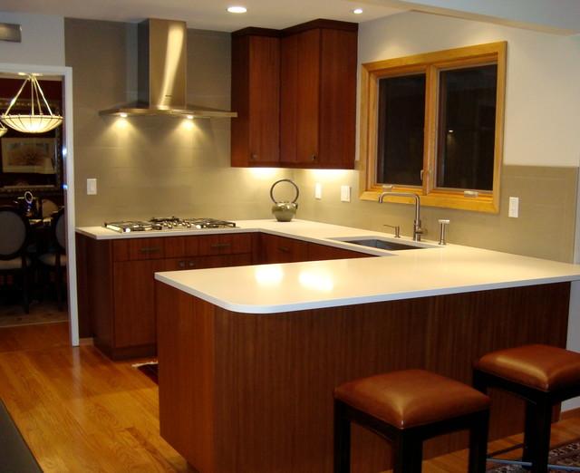 Modern Mahogany Kitchen Designed By John Keplar Feat DeWils Horizons Cabine