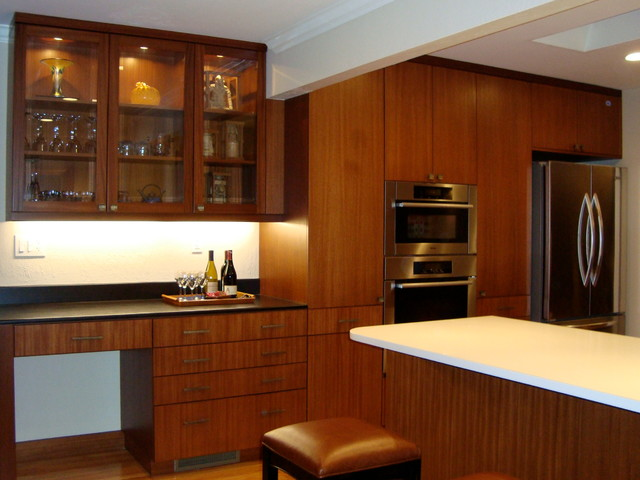 Modern Mahogany Kitchen Designed By John Keplar Feat Dewils Horizons Cabinetry