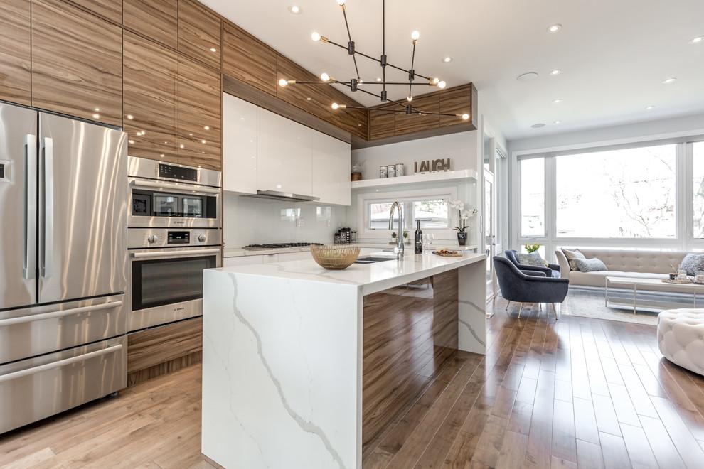 Modern Masterpiece In Etobicoke Contemporary Kitchen Toronto By Tecnip Construction Services