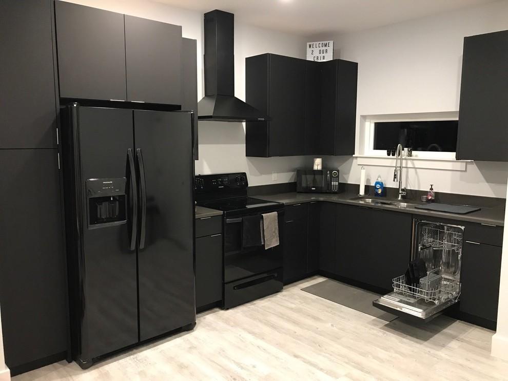 Modern Matte Black Kitchen Modern Kitchen Miami By Drifthouse Design Houzz