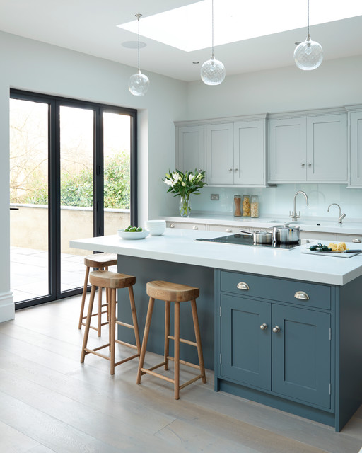 Modern meets edwardian transitional kitchen south for Edwardian kitchen