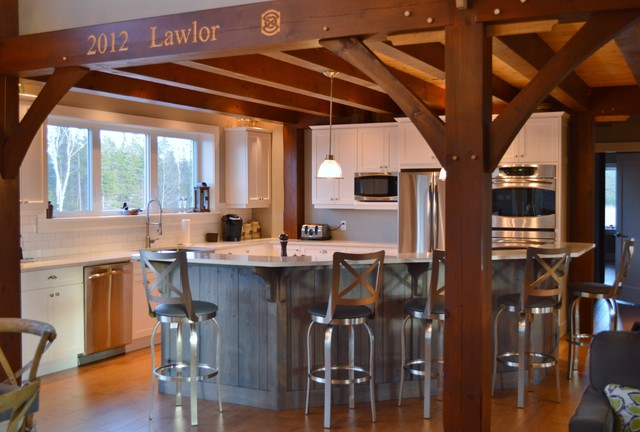 Modern meets Rustic traditional-kitchen