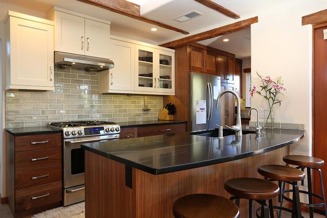 Modern Meets Rustic Santa Cruz Kitchen Remodel Farmhouse Kitchen Other By Santa Cruz