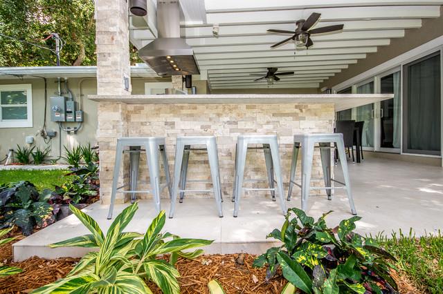 modern miami outdoor kitchen