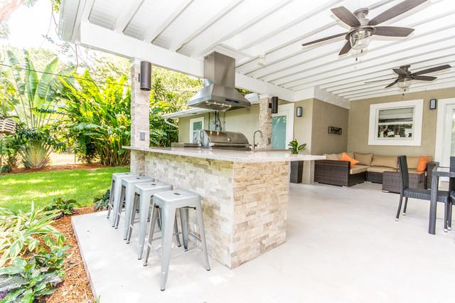 modern miami outdoor kitchen modern kitchen