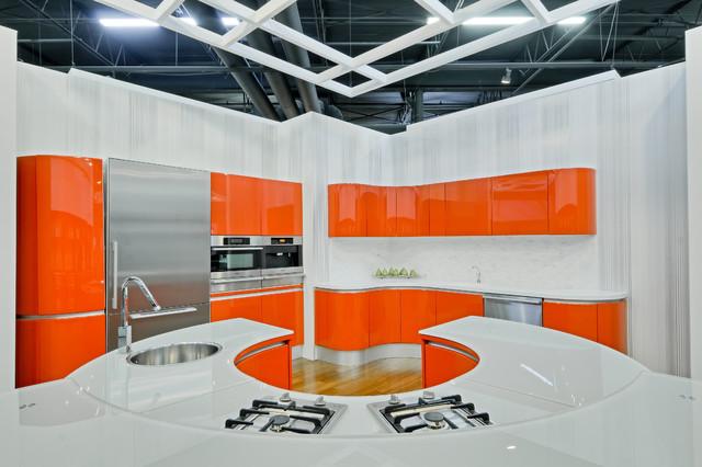 Modern Miele kitchen at Elite Appliance showroom modern-kitchen