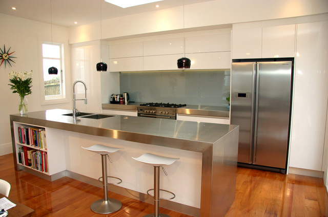 Modern Minimalist Gloss White Kitchen Western Springs Auckland 2013 Modern Kitchen
