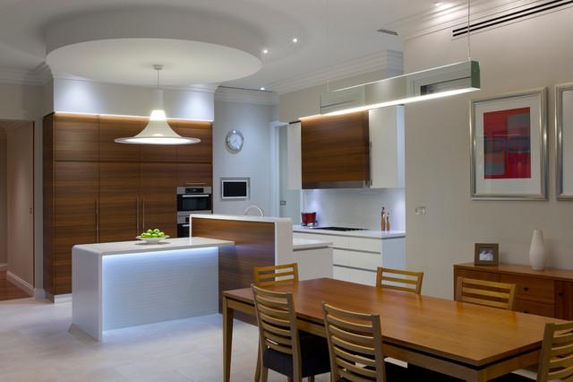 Modern minimalist kitchen with art deco shape for Art deco interior design kitchen