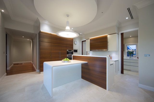Great Modern Minimalist Kitchen With Art Deco Shape Contemporary Kitchen
