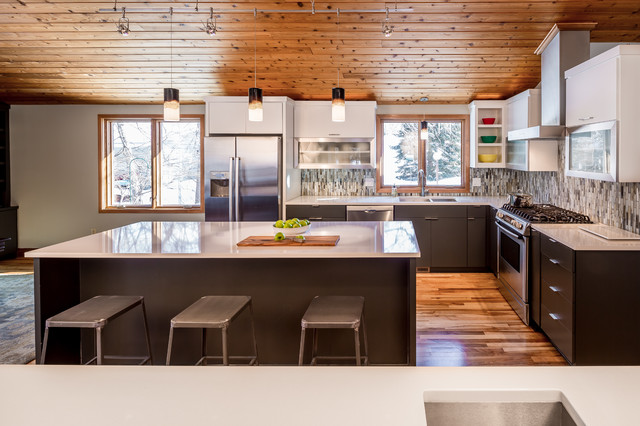 Modern Minneapolis Ranch Contemporary Kitchen