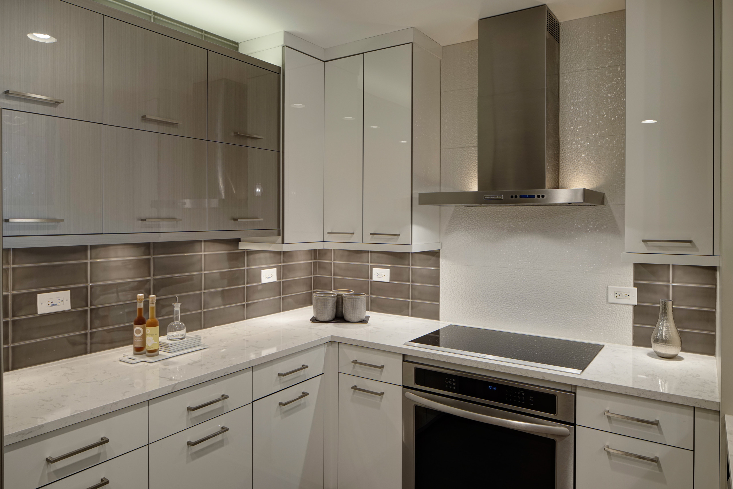 White Acrylic Cabinets Houzz