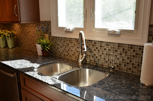Modern Mosaic Backsplash Kitchen Traditional Kitchen