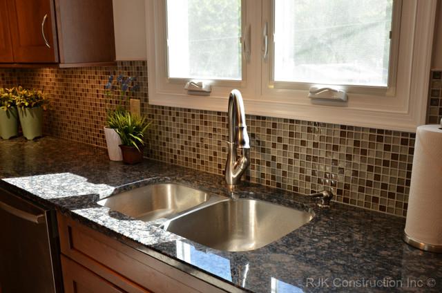 Modern Mosaic Backsplash Kitchen traditional-kitchen