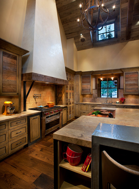 Mountain Cabin Rustic Kitchen Phoenix By Imi