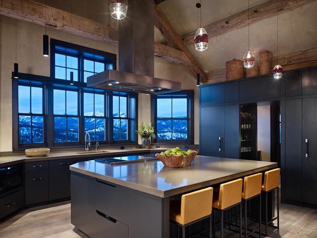 Modern mountain kitchen for Mountain kitchen designs