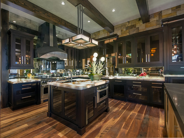 Modern mountain kitchen contemporary kitchen denver for Mountain modern design