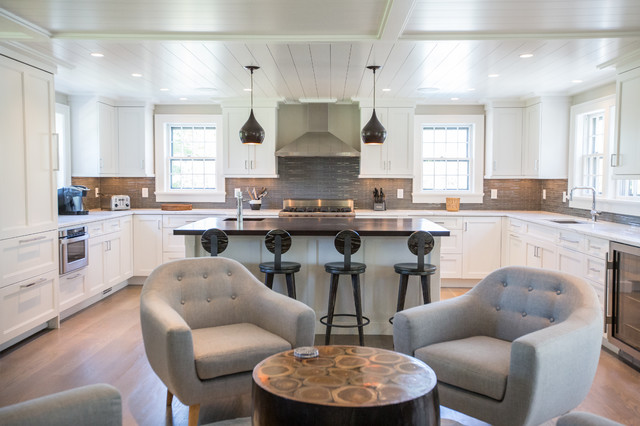 Modern nantucket renovation contemporary kitchen for Nantucket style kitchen