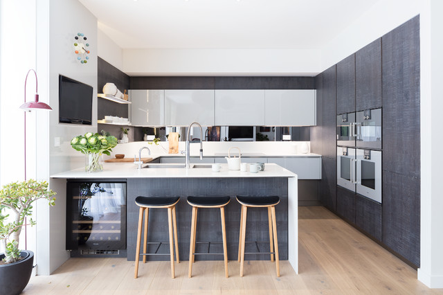Modern new home in hampstead kitchen bar contemporary for Kitchen dining area decorating ideas