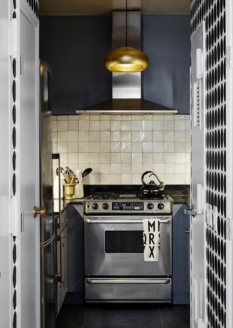 modern new york city apartment renovation kitchen
