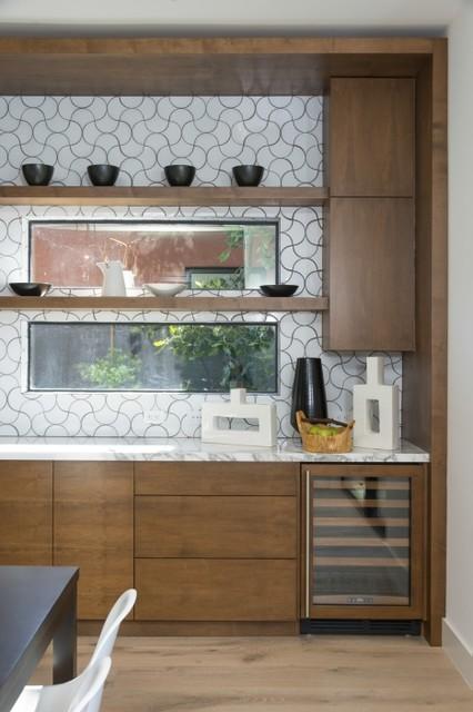 Modern Ogee Drop Kitchen Tile Backsplash Contemporary