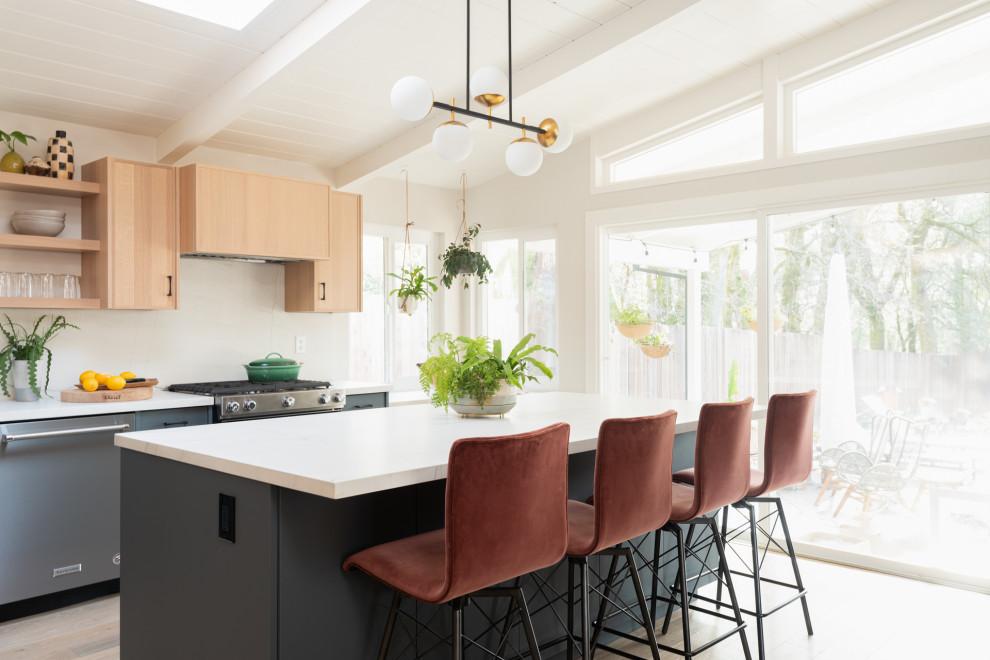 Modern Organic Kitchen Midcentury Kitchen San Francisco By Inspired Spaces Inc Houzz