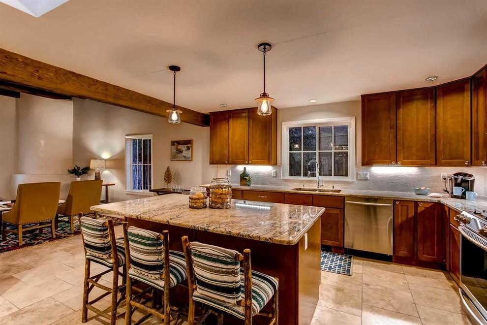 Modern Pueblo Style Home in Santa Fe - Southwestern ...