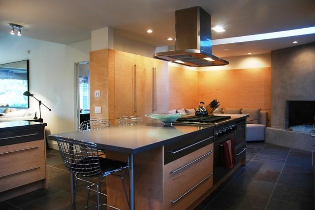 modern ranch contemporary-kitchen