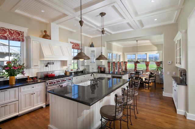 Modern Ranch Home Farmhouse Kitchen Santa Barbara