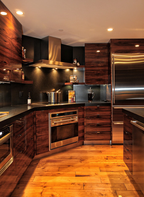 Modern Rosewood Kitchen - Contemporary - Kitchen - Miami - by Beres ...