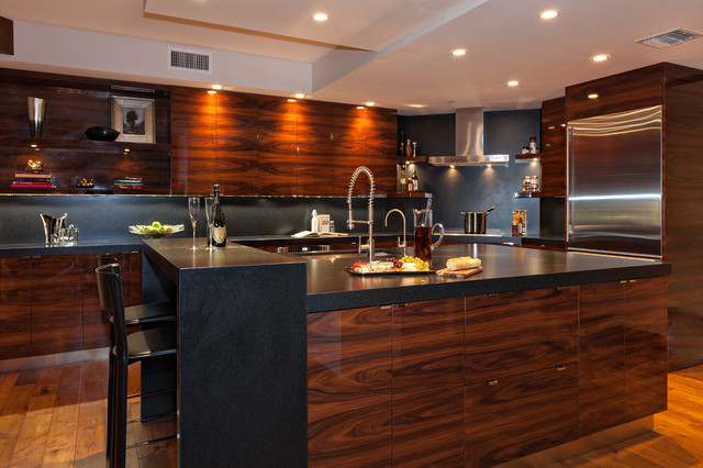 Modern Rosewood Kitchn Contemporary Kitchen Miami