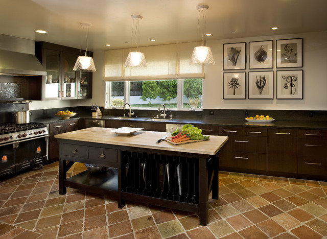 Modern Rustic Kitchen Mediterranean Kitchen Santa Barbara By Elizabeth Vallino Interiors
