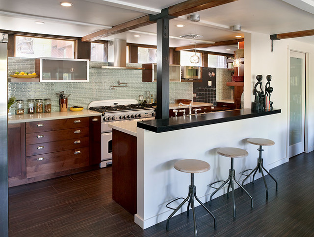 Modern rustic kitchen modern kitchen los angeles for Industrial modern kitchen designs