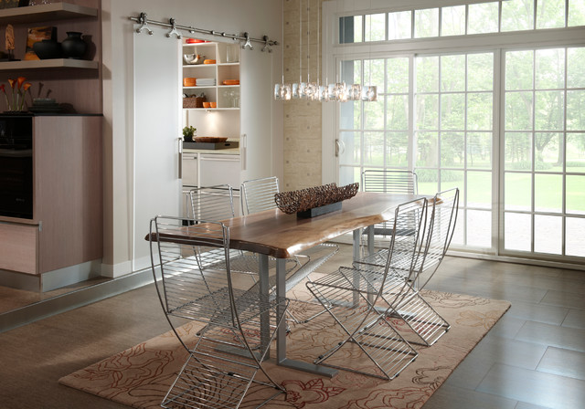 Modern Rustic Live Edge Dining Table Modern Kitchen Other Metro By Wo